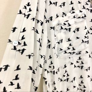 Just Living Tops - Just Living Migrating Ducks Button Down Shirt
